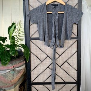 Forever 21 Belly Shirt Tie Grey Small T-Shirt
